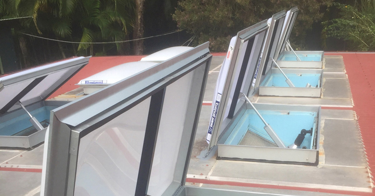 High awning windows are perfect for buildings that need to be secure.