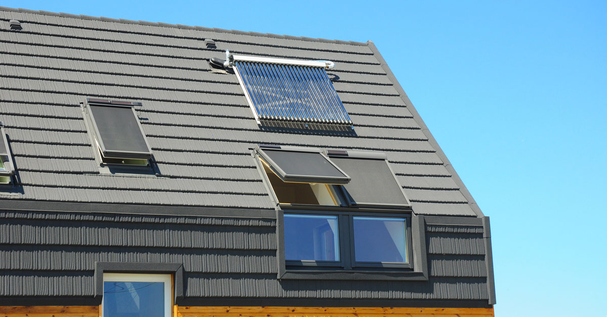 High awning windows with electric controls provide better energy efficiency.